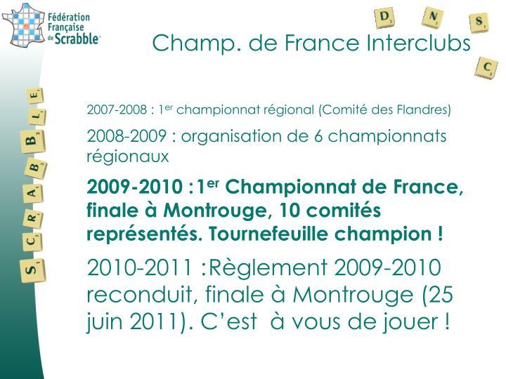 Champ. de France Interclubs