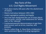 key facts of the u s civil rights movement