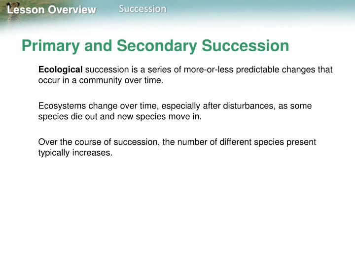 Primary and secondary succession1