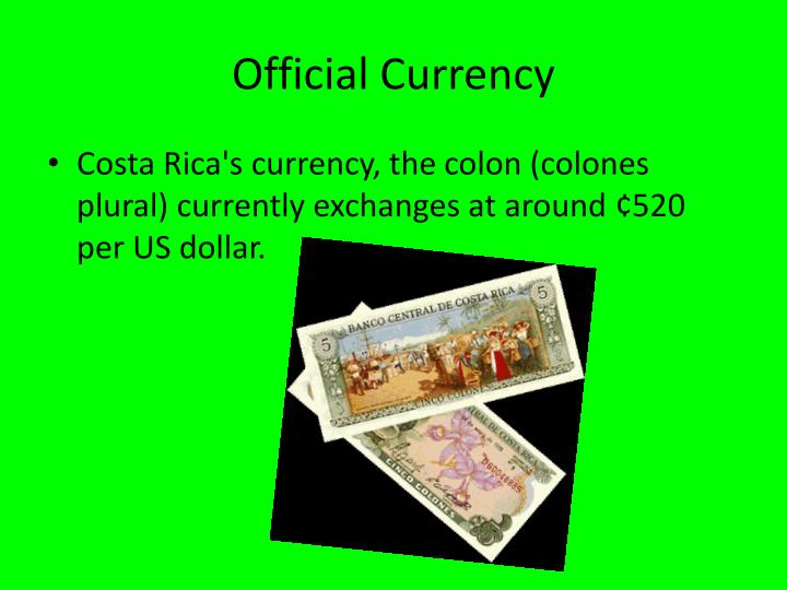 Official Currency