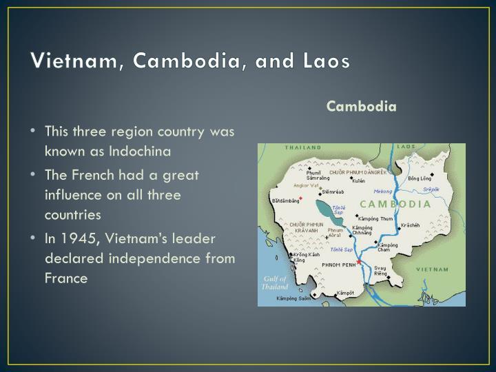 asian region cambodia laos and vietnam