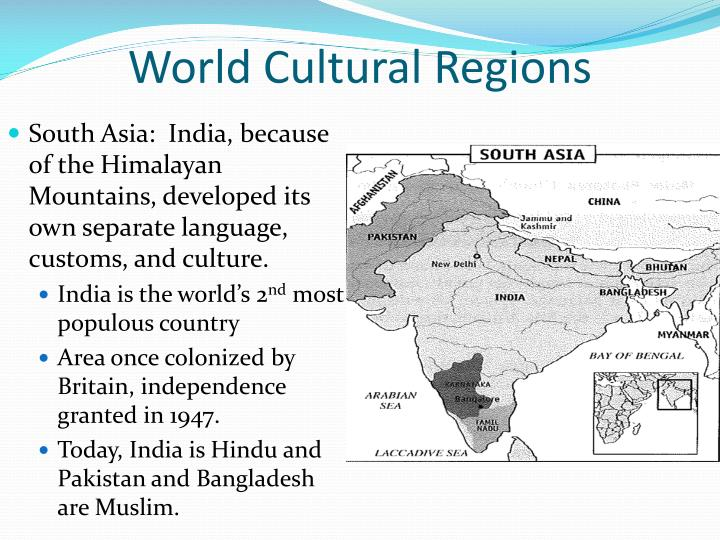 identify the three cultural regions of The map shows regions of the world based on shared cultural practices how many culture regions can be found in asia.