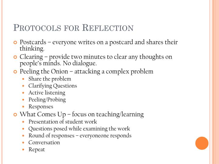 Protocols for Reflection