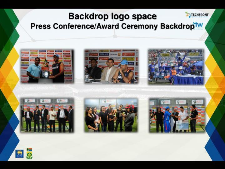 Backdrop logo space