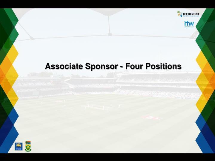 Associate Sponsor - Four Positions