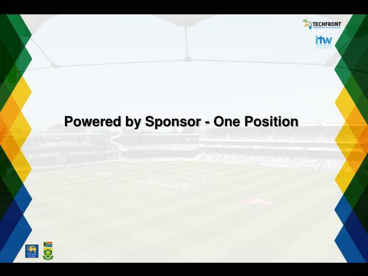 Powered by Sponsor - One Position