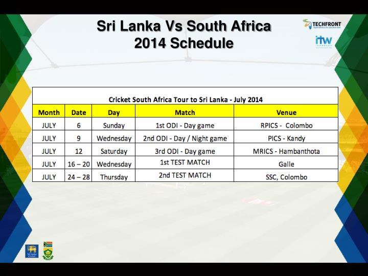 Sri Lanka Vs South Africa