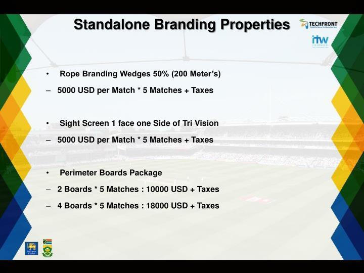 Standalone Branding Properties