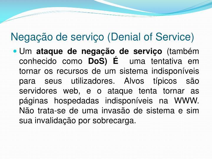 Negação de serviço (