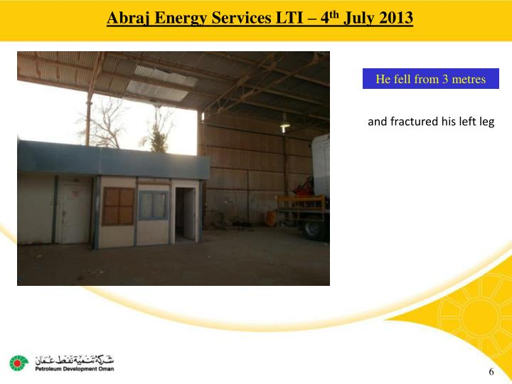 Abraj Energy Services LTI – 4