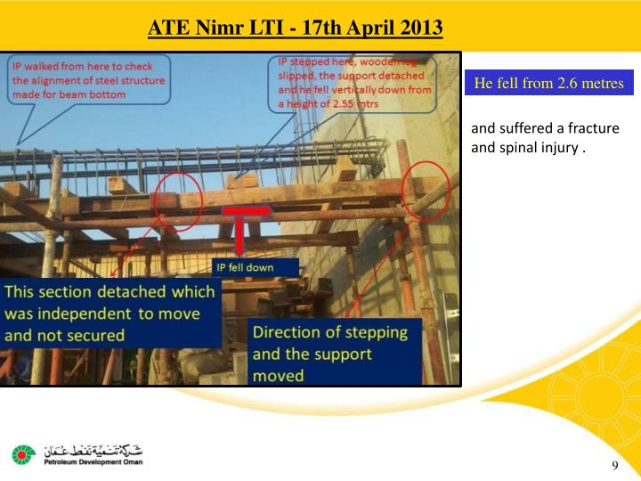 ATE Nimr LTI - 17th April 2013