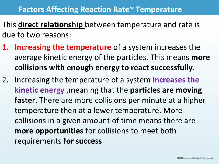 Factors Affecting Reaction Rate~ Temperature