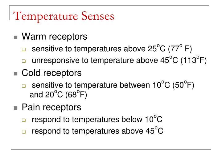 Temperature Senses
