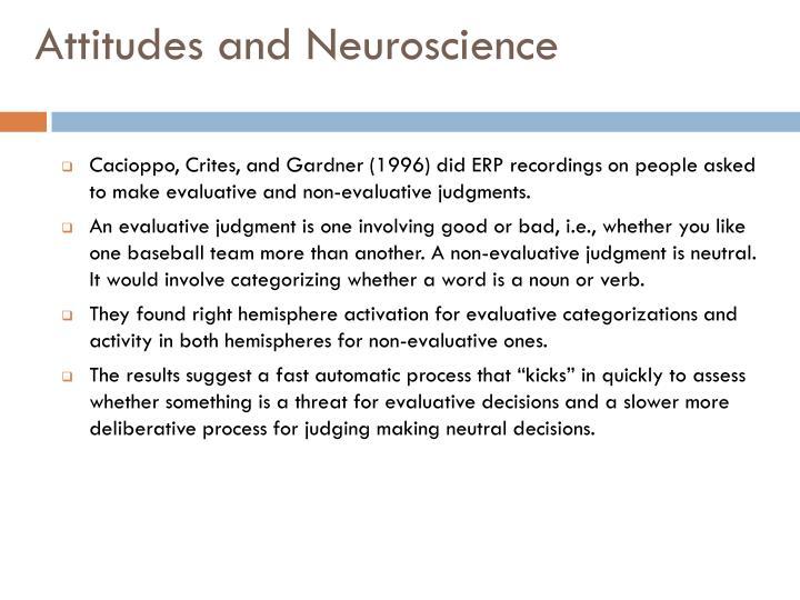 Attitudes and Neuroscience