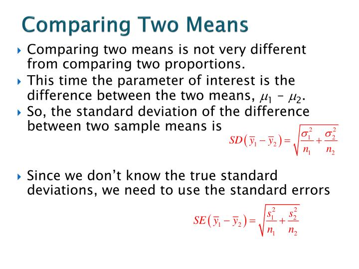 Comparing Two Means