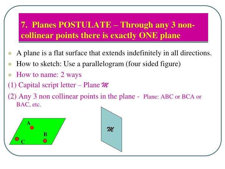 7.  Planes