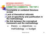 nipissing university sshrc grant information session committee comments the top 4
