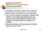 nipissing university sshrc grant information session overall presentation