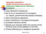 nipissing university sshrc grant information session statement of objectives theoretical framework