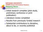nipissing university sshrc grant information session stepping stone