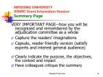 nipissing university sshrc grant information session summary page