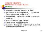 nipissing university sshrc grant information session training