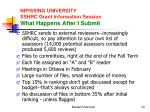 nipissing university sshrc grant information session what happens after i submit
