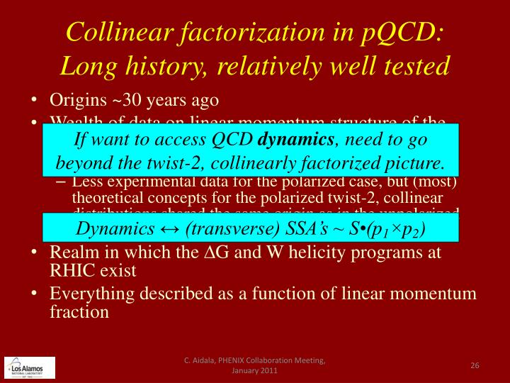 Collinear factorization in