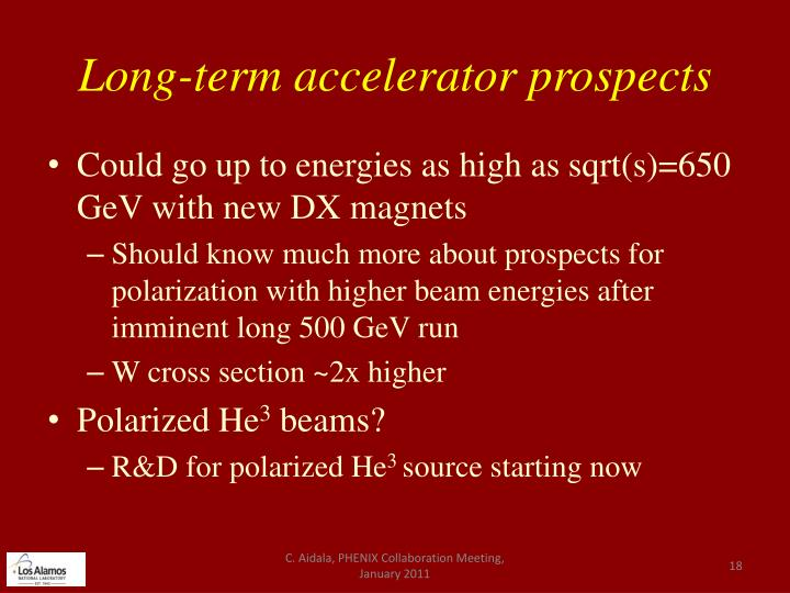 Long-term accelerator prospects
