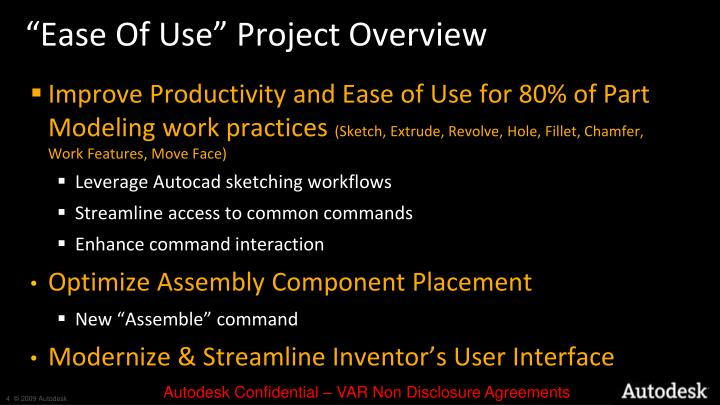 """Ease Of Use"" Project Overview"