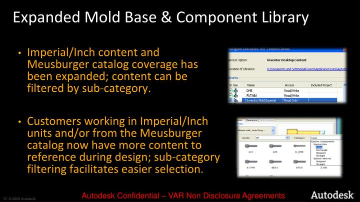 Expanded Mold Base & Component Library