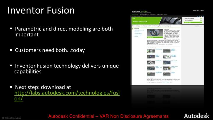 Inventor Fusion