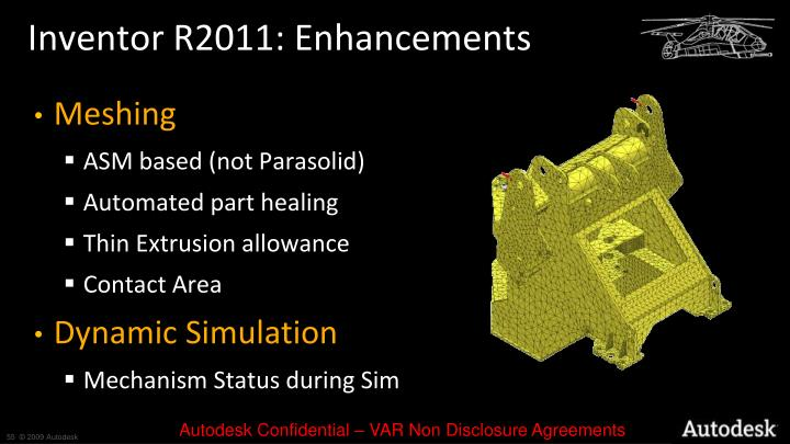 Inventor R2011: Enhancements