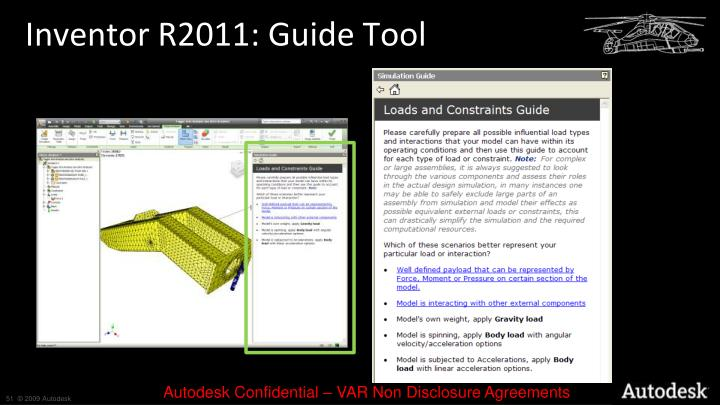 Inventor R2011: Guide Tool