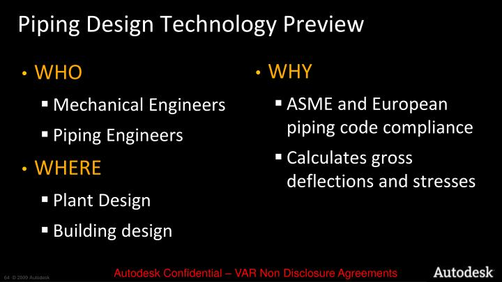 Piping Design Technology Preview
