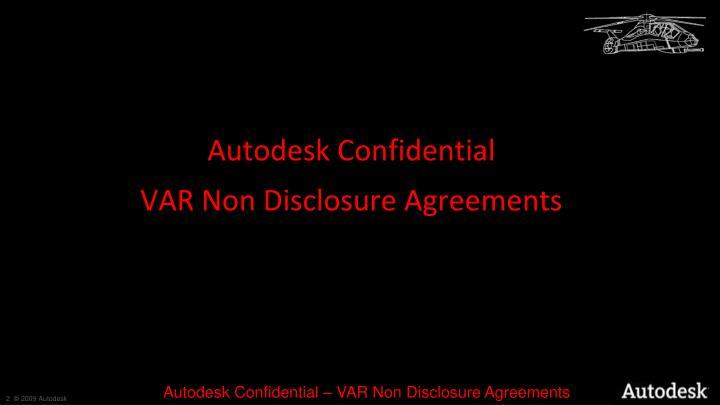 Autodesk Confidential