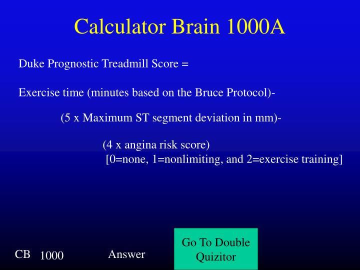 Calculator Brain 1000A