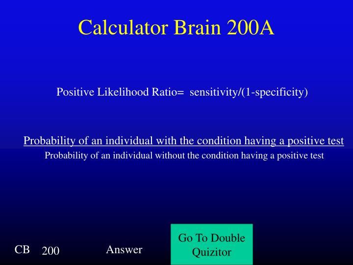 Calculator Brain 200A