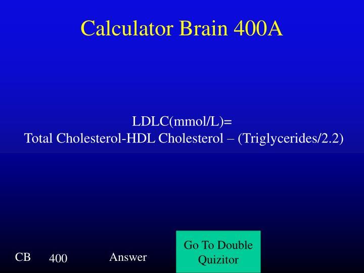 Calculator Brain 400A
