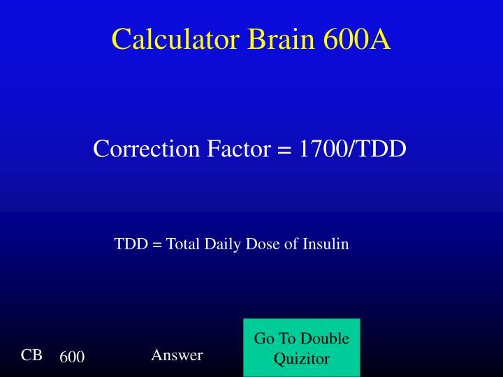 Calculator Brain 600A