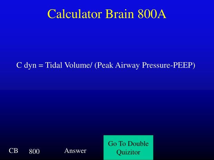 Calculator Brain 800A