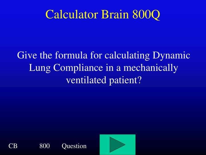 Calculator Brain 800Q