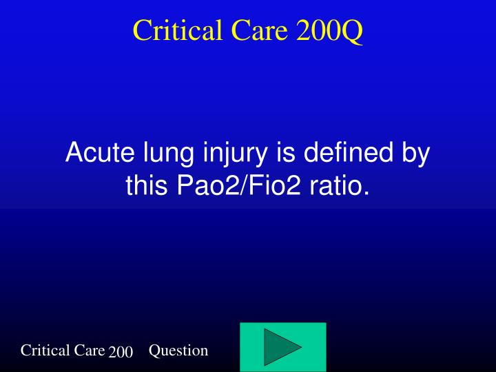 Critical Care 200Q