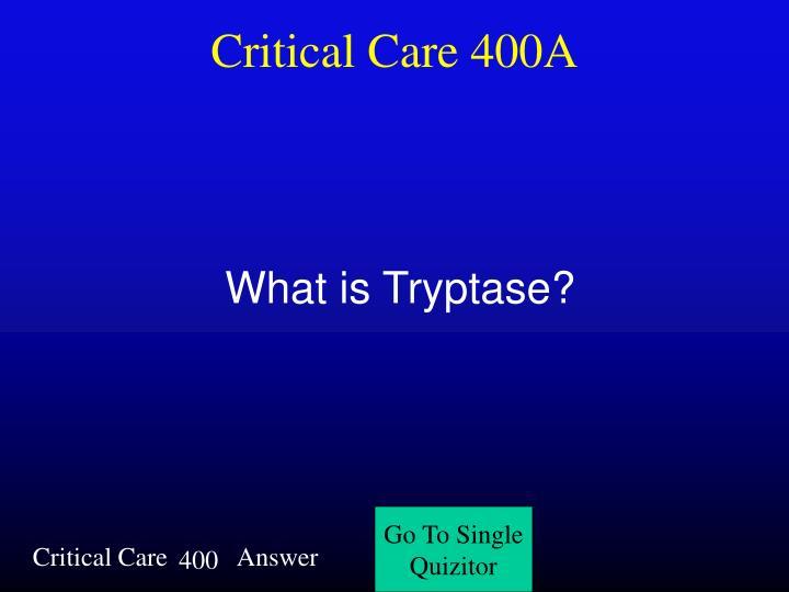 Critical Care 400A