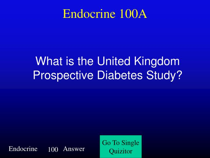 Endocrine 100A