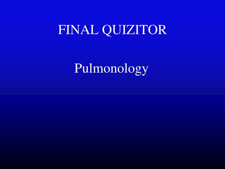 FINAL QUIZITOR