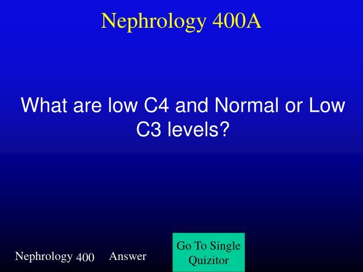 Nephrology 400A