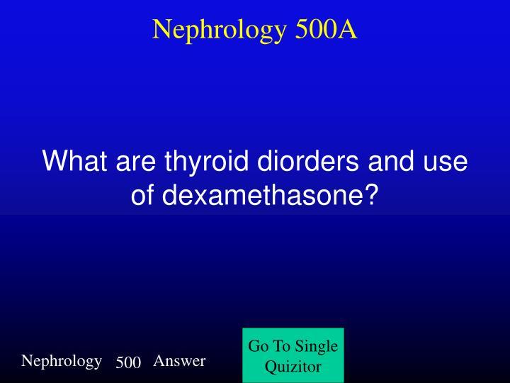 Nephrology 500A
