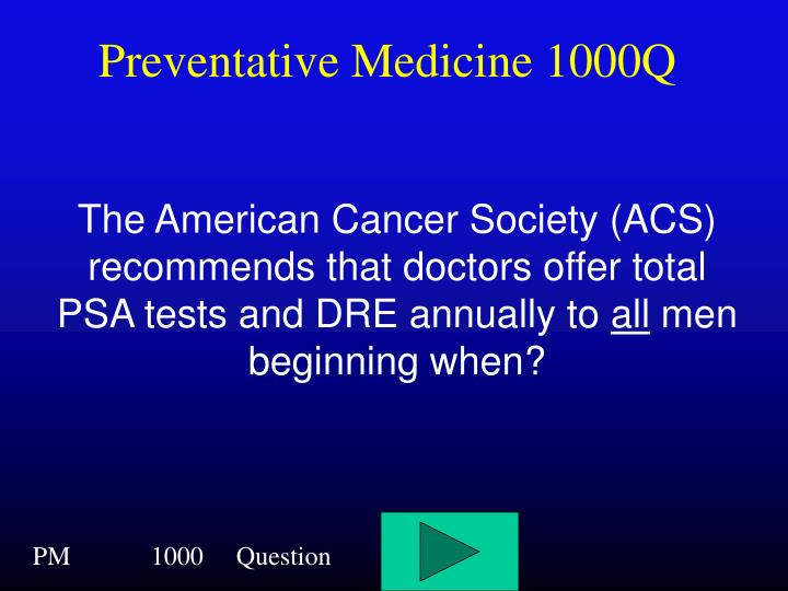 Preventative Medicine 1000Q