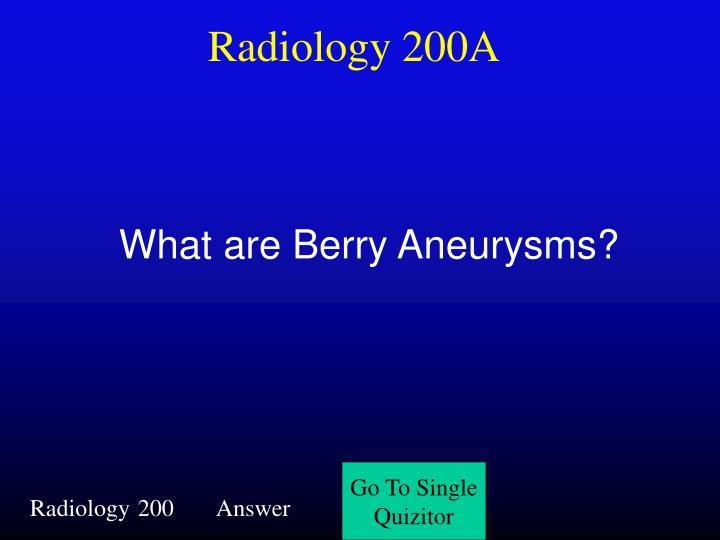 Radiology 200A